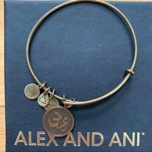 Alex and Ani Ohm Gold/Copper Charm Bracelet